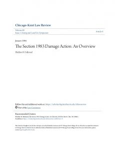 The Section 1983 Damage Action: An Overview