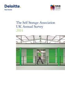 The Self Storage Association UK Annual Survey 2014