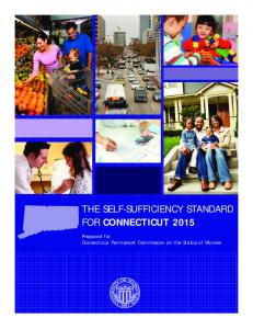 The Self-Sufficiency Standard for Connecticut Prepared for Connecticut Permanent Commission on the Status of Women