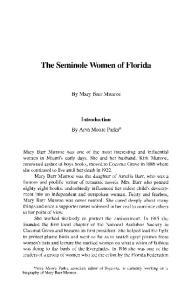 The Seminole Women of Florida