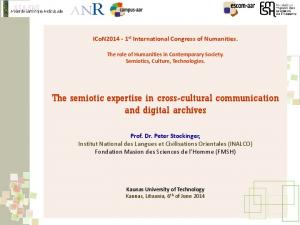 The semiotic expertise in cross-cultural communication and digital archives