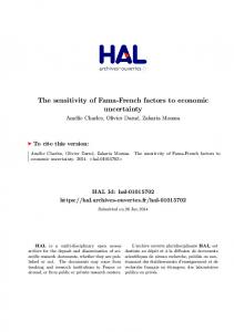 The sensitivity of Fama-French factors to. uncertainty