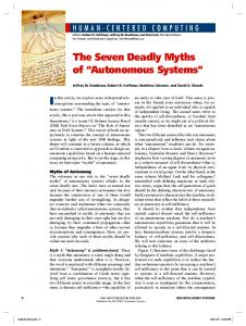 The Seven Deadly Myths of Autonomous Systems