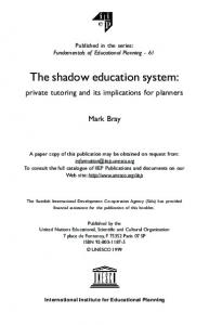 The shadow education system: