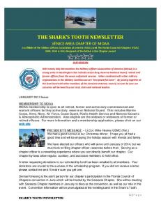THE SHARK S TOOTH NEWSLETTER