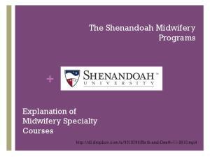 The Shenandoah Midwifery Programs