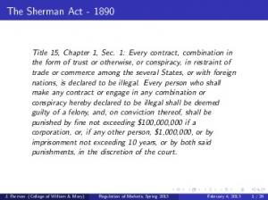 The Sherman Act