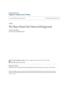 The Ship of Saint Paul: Historical Background