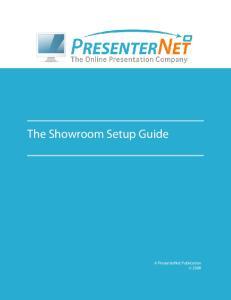 The Showroom Setup Guide
