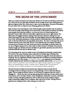 THE SIGNS OF THE ANTICHRIST