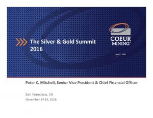 The Silver & Gold Summit 2016