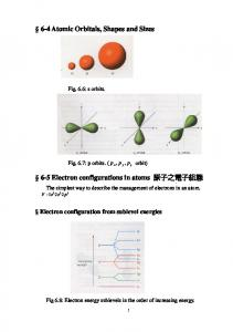 The simplest way to describe the management of electrons in an atom Electron configuration from sublevel energies