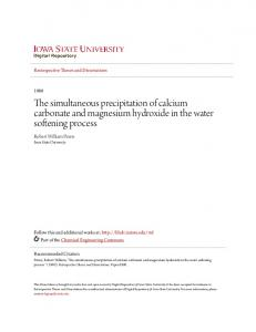 The simultaneous precipitation of calcium carbonate and magnesium hydroxide in the water softening process