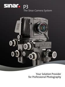 The Sinar Camera System