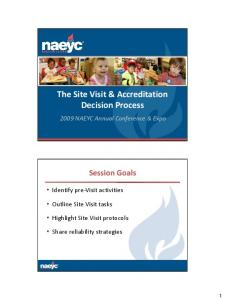 The Site Visit & Accreditation Decision Process