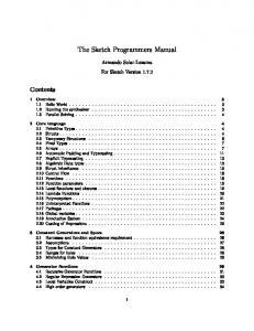 The Sketch Programmers Manual
