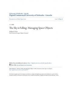 The Sky is Falling: Managing Space Objects
