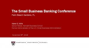 The Small Business Banking Conference