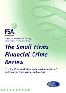 The Small Firms Financial Crime Review