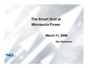 The Smart Grid at Minnesota Power