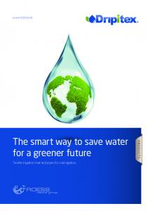 The smart way to save water for a greener future
