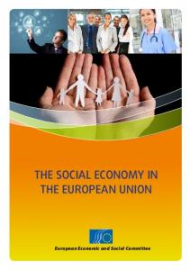 THE SOCIAL ECONOMY IN THE EUROPEAN UNION