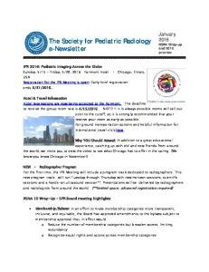 The Society for Pediatric Radiology e-newsletter