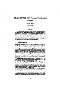 The SOCRATES SON-Function Coordination Concept