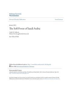 The Soft Power of Saudi Arabia