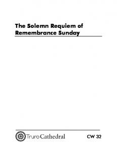 The Solemn Requiem of Remembrance Sunday