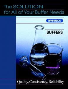 The SOLUTION for All of Your Buffer Needs