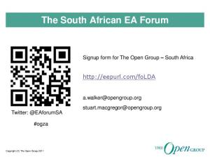 The South African EA Forum