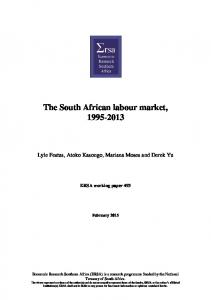 The South African labour market,