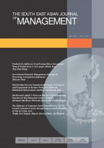 THE SOUTH EAST ASIAN JOURNAL MANAGEMENT