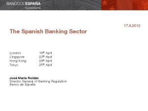 The Spanish Banking Sector