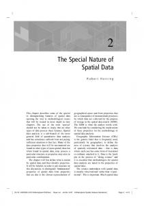 The Special Nature of Spatial Data