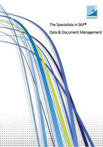 The Specialists in SAP Data & Document Management