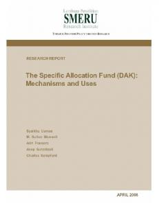 The Specific Allocation Fund (DAK): Mechanisms and Uses