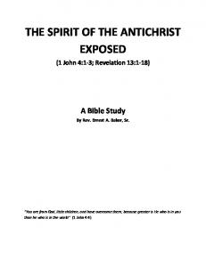 THE SPIRIT OF THE ANTICHRIST EXPOSED