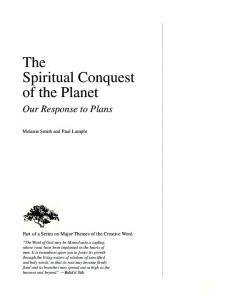 The Spiritual Conquest of the Planet