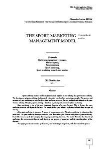 THE SPORT MARKETING MANAGEMENT MODEL
