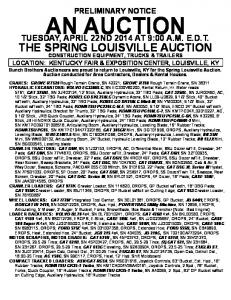 THE SPRING LOUISVILLE AUCTION