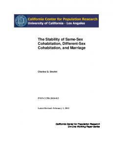 The Stability of Same-Sex Cohabitation, Different-Sex Cohabitation, and Marriage