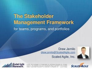 The Stakeholder Management Framework
