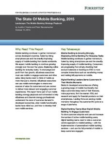 The State Of Mobile Banking, 2015