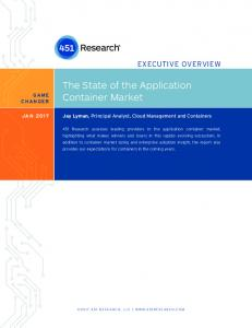 The State of the Application Container Market