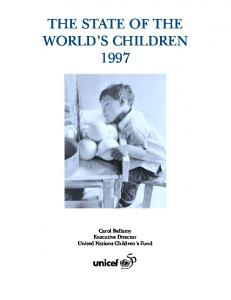 THE STATE OF THE WORLD S CHILDREN 1997