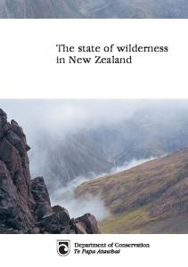 The state of wilderness in New Zealand
