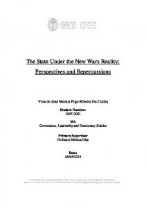 The State Under the New Wars Reality: Perspectives and Repercussions