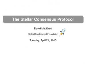 The Stellar Consensus Protocol